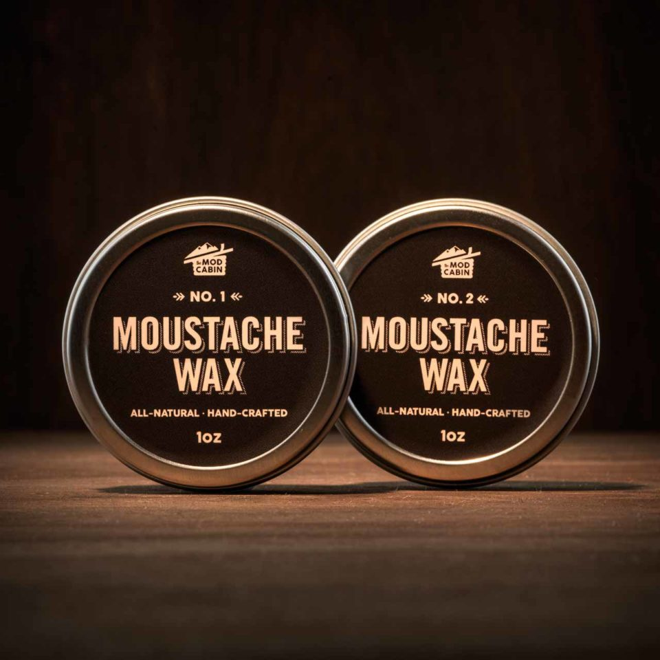 The Mod Cabin Moustache Wax No.1 and No.2