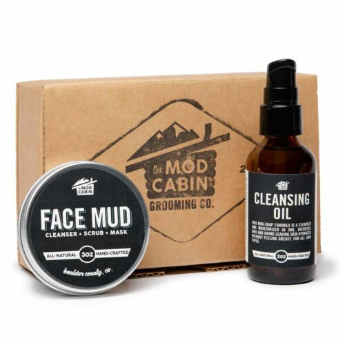 Cleansing Mud, cleansing oil, daily cleanser, detoxifying face cleanser, detoxifying face mud, exfoliating face cleanser, face cleanser, face mud, healthy skin, healthy skin care, Mod Cabin, no parabens, no phthalates, no sulfates, paraben free skincare, phthalate free skincare, Skincare Set, sulfate free skincare, The Mod Cabin Cleansing Mud, skincare routine,